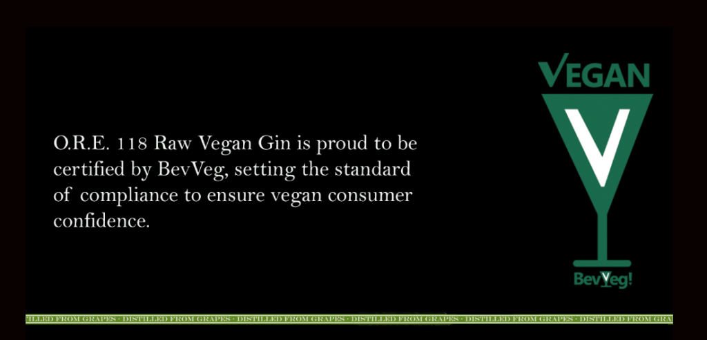 BevVeg Certifies O.R.E Gin