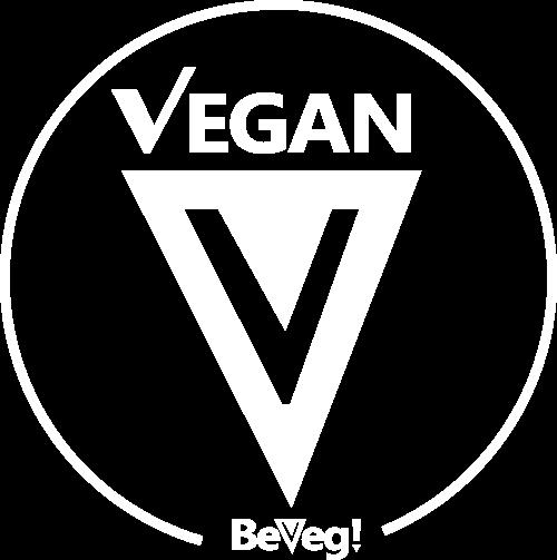 Vegan logo white