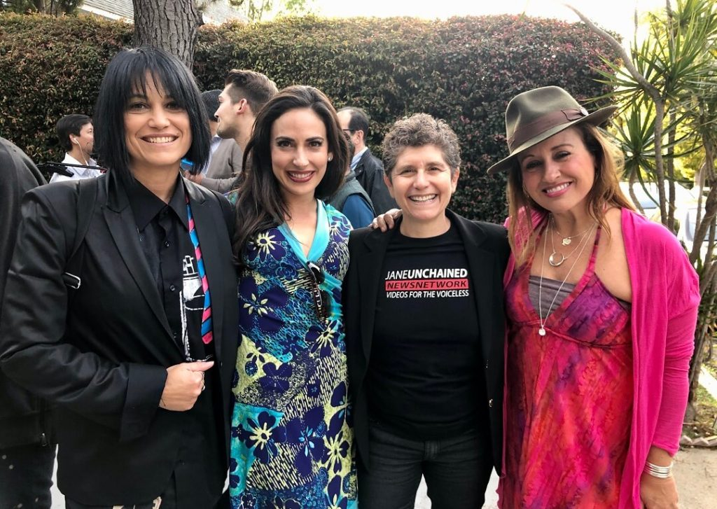 Carissa Kranz and Dani Rukin with That Snarky Vegan Girl and Renee Marinkovich at the 'New Day New Chef' launch party.