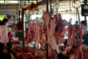 Live meat market in Vietnam