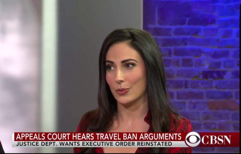 Carissa Kranz on CBSN- Live Coverage of Court Discussing President Trump's Travel Ban