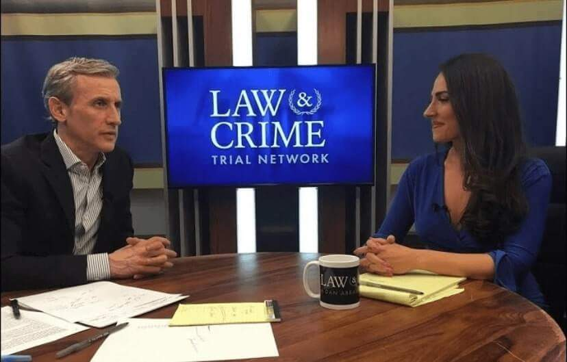 Dan Abrams with Carissa Kranz on A&E Law & Crime Network.