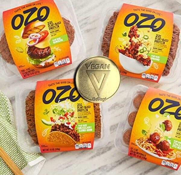 Plant-based meat brant OZO by JBS is BeVeg vegan certified