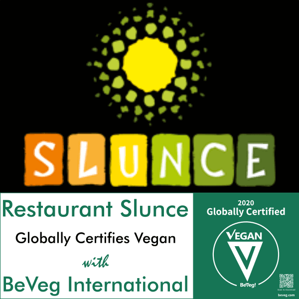 Restaurant Slunce Certifies Vegan with BeVeg International