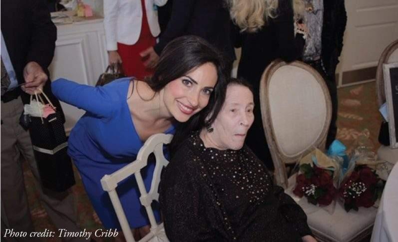 Carissa Kranz with Miss Joan Miller at Alzheimer's Luncheon Palm Beach