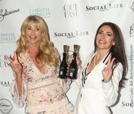 Carissa Kranz with Christie Brinkley, featuring BeVeg certified Bellissima Prosecco