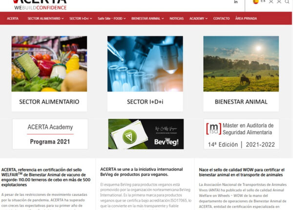 Acerta website anouncing it's BeVeg authorized